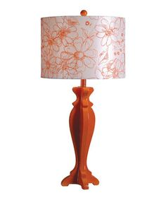 Love this Tangerine Scroll Table Lamp by Design Craft on #zulily! #zulilyfinds