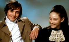 Still from 1968 interview with Leonard Whiting & Olivia Hussey.