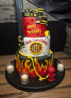 Chicago Fire Birthday Bash Cake | Shared by LION