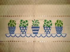 Pano de Copa Vasos de Plantas