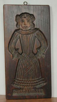 Primitive Antique Hand Carved Wood SPRINGERLE Cookie Board Folk Art Mold AAFA
