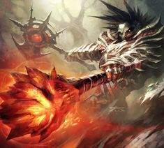 Bloodskull Destroyer - WOW Raymond Swanland, Underworld, Magic The Gathering, World Of Warcraft, Cyberpunk, Card Games, Fantasy Art, Steampunk, Creatures