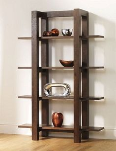 Bentley Designs Lyon Walnut Open Shelf Unit - Discover home design ideas, furniture, browse photos and plan projects at HG Design Ideas - connecting homeowners with the latest trends in home design & remodeling Wooden Shelving Units, Walnut Shelves, Open Shelving, Walnut Furniture, Home Decor Furniture, Furniture Design, Bentley Design, Regal Design, Modern Design