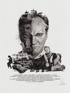 Illustrator Julian Rentzsch creates meticulously detailed and exquisitely executed portraits of the silver screen's most prised directors. Quentin Tarantino