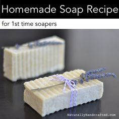 DIY homemade soap for time soapers. Thinking about making your batch of soap? This easy homemade soap recipe is perfect in getting your soap making feet wet! Sea Salt Soap, Recipe For 1, Soap Making Supplies, Homemade Soap Recipes, Homemade Products, Milk Recipes, Soap Maker, Castile Soap, Glycerin Soap