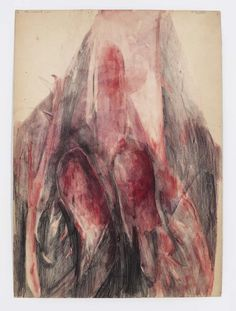 Belinde de Bruyckere: The Wound, 2011 Watercolor and pencil on paper 17 1/2 x 12 5/8 in  Photo: Thomas Müller