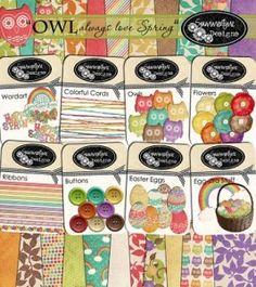 Owl Kit Free Digital Scrap book kit