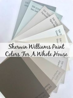Non-boring neutral Sherwin Williams paint colors for an entire house. Colors for an open floor plan, bedrooms, bath, etc that keep the vibe cohesive. - Sherwin Williams Paint Colors For Our New House Interior Paint Colors For Living Room, Exterior Paint Colors For House, Bedroom Paint Colors, Paint Colors For Home, Paint Colours, Paint For House, Wall Colors, Foyer Paint Colors, Interior House Paint Colors