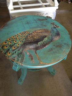 looks like someone else had a simular idea as I. Peacock table available at Hico Antique Show (Hico, TX) April 2013