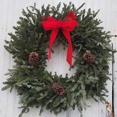 #pine #evergreen #tistheseason #ribbonsandbows #wreath