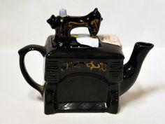 Vintage Teapots | Vintage Kitsch Sewing Machine Teapot