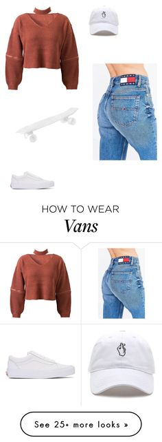 """"""""""" by larauknow on Polyvore featuring WithChic, Vans, Seletti and Tommy Hilfiger"""