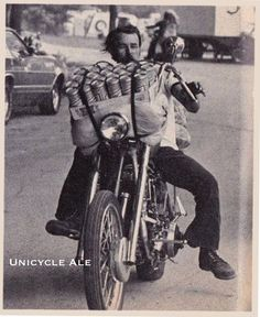 Old school biker beer run