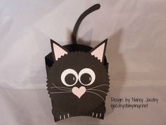 Stampin' Up Fry Box Die - Black Cat!