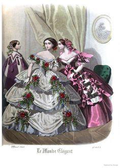 Le Monde Elégant 1858 April