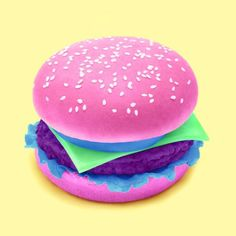 Colorful Hamburger  im open to design and life questions, ill try to answer them all.  #hamburger #color #foodporn #junkfood #popart #mashup #photoshop #digitalart  #surreal #pop #artwork #paulfuentes