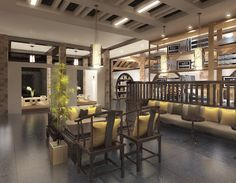 2015 Graduate Design_Yun Lin Shan Ju Resort Hotel Interior Design_Book Bar_Reading