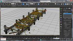 destroying a wooden Pier with Pulldownit in 3d Max