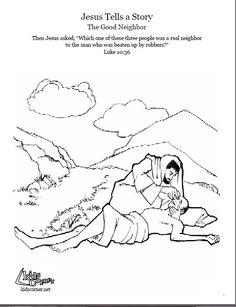 the parable of the good samaritan coloring page audio bible story and script available