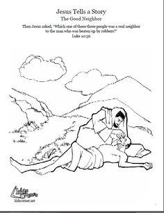 parable of the good samaritan coloring page pinteres