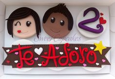 cupcakes dia de los enamorados fondant - Buscar con Google
