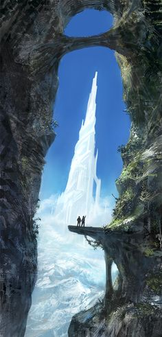 Ice palace in a faraway land. #fantasy setting inspiration