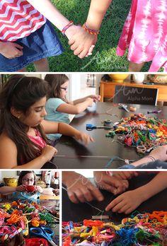 Friendship Bracelet Cards for Back-to-School (making bracelets) by Brenda Ponnay for Alphamom.com