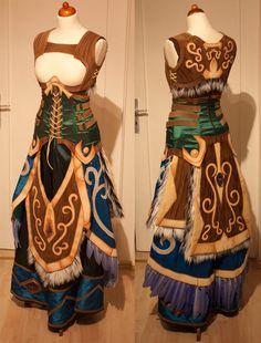 Work in progress shot of Kamui's tier 9 druid cosplay.