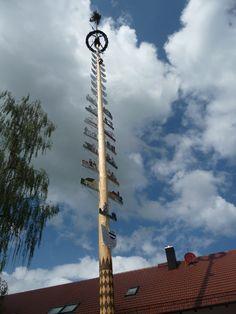 May 1, 2014: May Pole in Bad Woerishofen, Bavaria