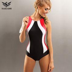 c8e2481354d NAKIAEOI 2018 Professional Swimwear One Piece Swimsuit Women Backless  Monokini Swimsuit Sport Bodysuit Beach Bathing Suit