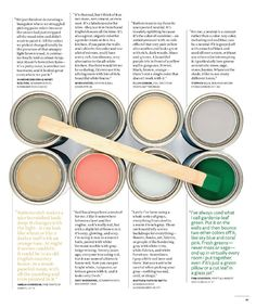 """GREAT link - house beautiful 500 best paint colours...and please please please I need that Pratt & Lambert """"jungle green"""" somewhere. So nostalgic!"""