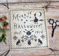 Merrie Halloween : Pineberry Lane counted by thecottageneedle