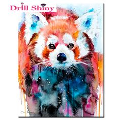 Hot colorful dog Diy diamond painting cross stitch all diamond embroidery home decoration square drill animal series best gift #Affiliate