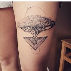 Acacia tree tattoo