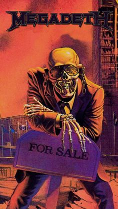 Vic rattlehead art heavy metal print albums for Where sells wallpaper