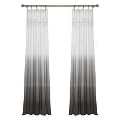 Wilkinson Ombre Pinch Pleat Single Curtain Panel & Reviews | Joss & Main