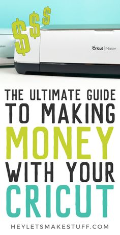 If you've ever wondered, can I make money with my Cricut? the answer is yes! Learn everything you need to know about starting a business selling the crafts you make with your Cricut Explore or Maker. If you've ever wondered, Cricut Ideas, Cricut Tutorials, Cricut Project Ideas, Sewing Tutorials, Cricut Air 2, Cricut Help, Cricut Stencils, Cricut Apps, Vinyls