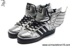 Cheap Discount Adidas X Jeremy Scott Wings 2.0 Shoes Silver Sports Shoes Shop