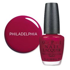 America's Most Wanted Nail Polish - Philadelphia, PA: Crimson Red from #InStyle