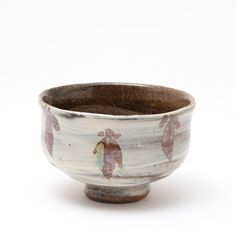 Jim Malone | Studio Pottery | Tea Bowl | Teabowl | Brushed slip, iron repeats