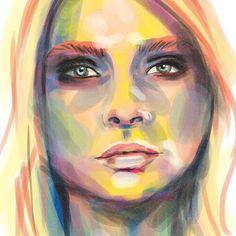 My digital #painting of #caradelevingne - #fanart #digitalart #digitalpainting #art_fashion