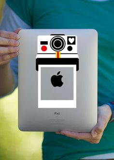 Retro Polaroid Camera iPad Decal / Macbook Decal / Laptop Decal.