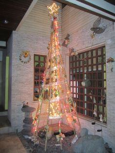 Our 12 ft. Bamboo Christmas Tree