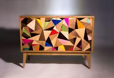 Cubist Credenza - Chris Turner - Treniq. Modern take on marquetry