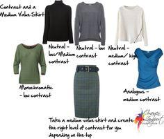 contrast with medium value skirt