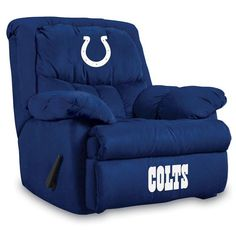 Indianapolis Colts NFL Home Team Microfiber Rocker Recliner