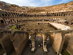 Top 10 World Heritage Sites for Kids - Photo: Interior view of the Colosseum in Rome