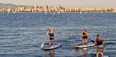 Paddle boarding in Vancouver is one of my favorite Summer activities...even though I fall sometimes! | Le « paddle boarding » à Vancouver est l'une de mes activités estivales favorites… même si je tombe parfois!