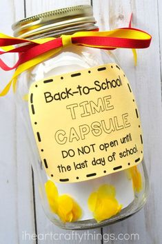 If You're a Teacher, Here's How to Get Your Student to Open up Back to School Time Capsule Back To School Crafts, Back To School Hacks, Back To School Essentials, Back To School Supplies, Back To School Activities, Craft Activities, Last Day Of School, New School Year, School Fun