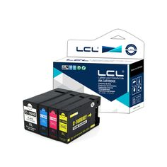 LCL PGI-1600XL PGI-1600 XL PGI1600 (4-Pack KCMY) Ink Cartridge Compatible for Canon MAXIFY MB2060/MB2360